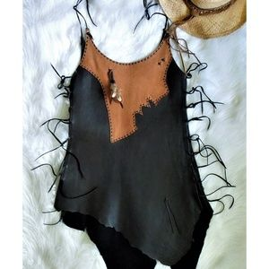 One of a Kind Leather Dress S